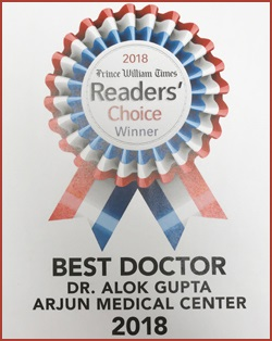 Best Doctor Readers Choice Award from the Prince William Times